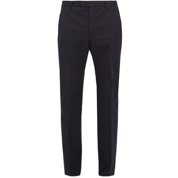 Éditions M.R Slim-leg cotton-gabardine chinos (470 BRL) ❤ liked on Polyvore featuring men's fashion, men's clothing, men's pants, men's casual pants, navy, mens gabardine pants, mens slim fit pants, mens slim pants, mens chinos pants and mens slim fit chino pants
