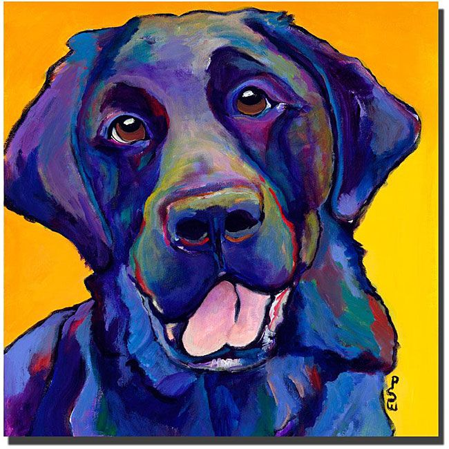 Show your love for mans best friend with this dog giclee art from artist Pat Saunders-White. Buddy features a friendly dog image in vibrant shades of red, yellow, blue, and more, making it perfect home decor for art aficionados and dog lovers.