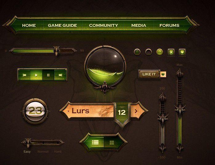 游戏UI界面 GAMEUI 游戏UI  Game interface