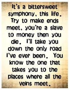 Bittersweet Symphony Lyrics   The Verve - Bittersweet Symphony - song lyrics music lyrics songs ...
