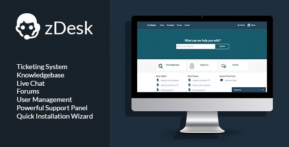 zDesk - Support Helpdesk System . zDesk has features such as Compatible Browsers: IE11, Firefox, Safari, Opera, Chrome, Edge, Software Version: PHP 7.x, PHP 5.3, PHP 5.4, MySQL 5.x