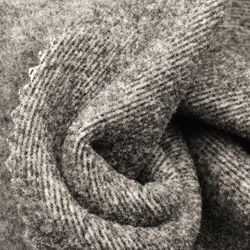 Polar Fleece Fabric in 2-Tone Stripe, For Ski Wear and Jackets