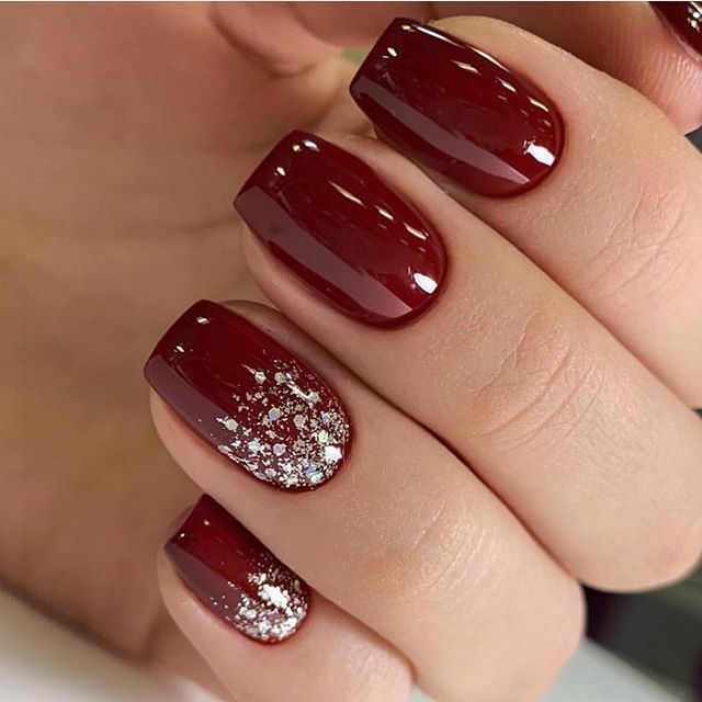 52 Winter Nail Colours And Designs Mismatched Nail Colours
