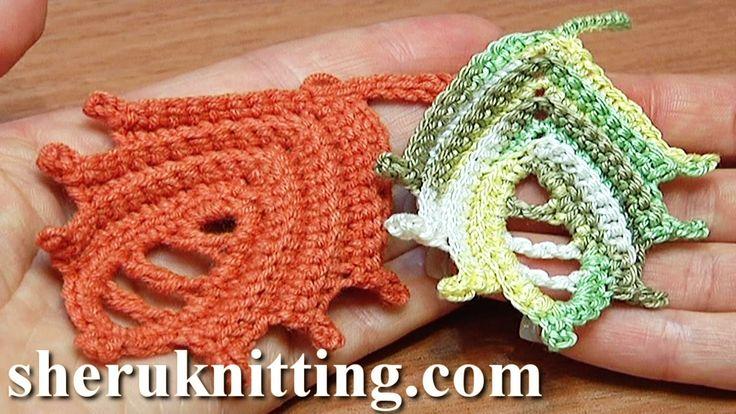 Leaf Crochet How to Tutorial 25 Work In Back Loop Technique