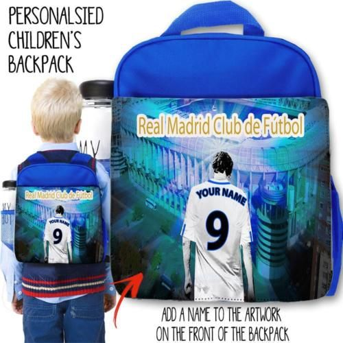 Personalised real madrid #nursery backpack #football rucksack #school bag,  View more on the LINK: 	http://www.zeppy.io/product/gb/2/351660928228/