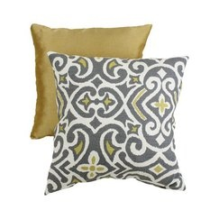 Decorative Damask Square Toss Pillow - Gray/ YellowAccent Pillows, Toss Pillows, Squares Toss, Damasks Squares, Living Room, Home Kitchens, Decor Pillows, Throw Pillows, Gray Yellow