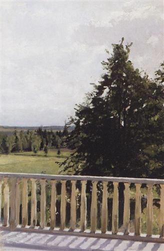 """Balcony"" Valentin Serov"
