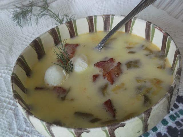 Hellena  ...din bucataria mea...: Ciorba de salata cu oua si kaiser - varianta 2