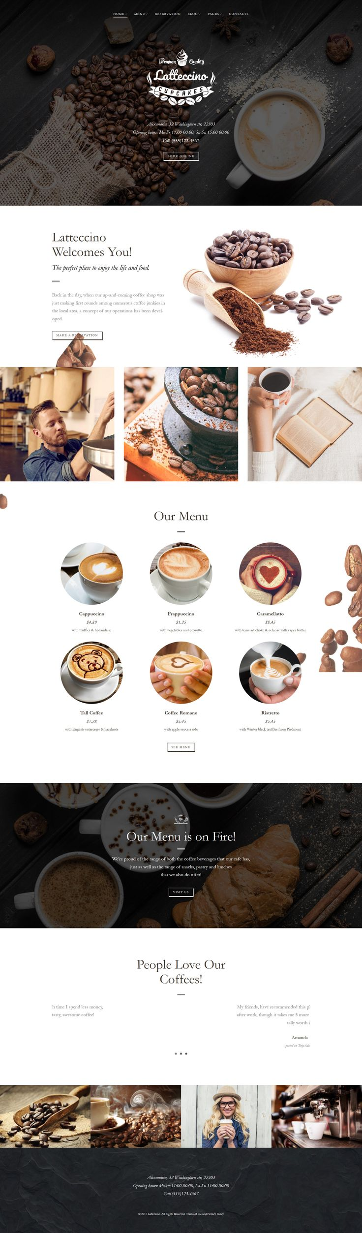 WordPress Template , Latteccino - Coffee Shop