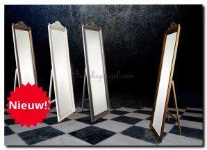 Handig voor in de slaapkamer een staande passpiegel, mooi klassiek met kleine kuif. http://www.barokspiegel.com/klassieke-spiegels/staande-passpiegel-lodovico