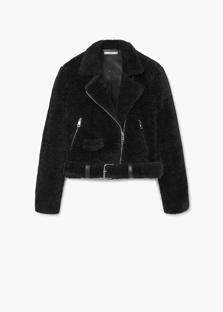 Faux fur jacket | MANGO