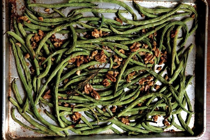 Roasted Green Beans with Walnuts and Rosemary Recipe   Vegetarian Times