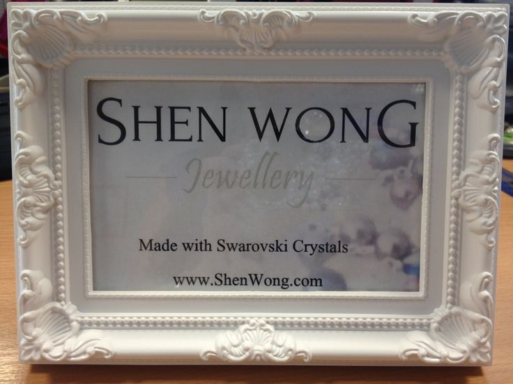 Display sign for my first ever stall tomorrow! Love the branding within a photo frame. Very fancy. Excited :)