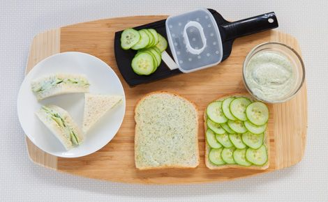 Lemon Aioli Cucumber Tea Sandwiches #appy #snack