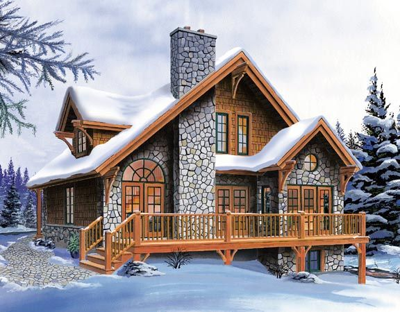 Sims log house open floor plans from for Houseplans com craftsman