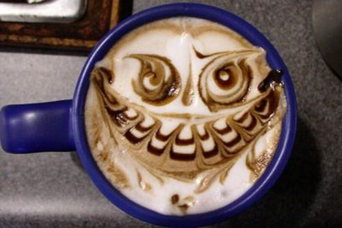 Scary latte.