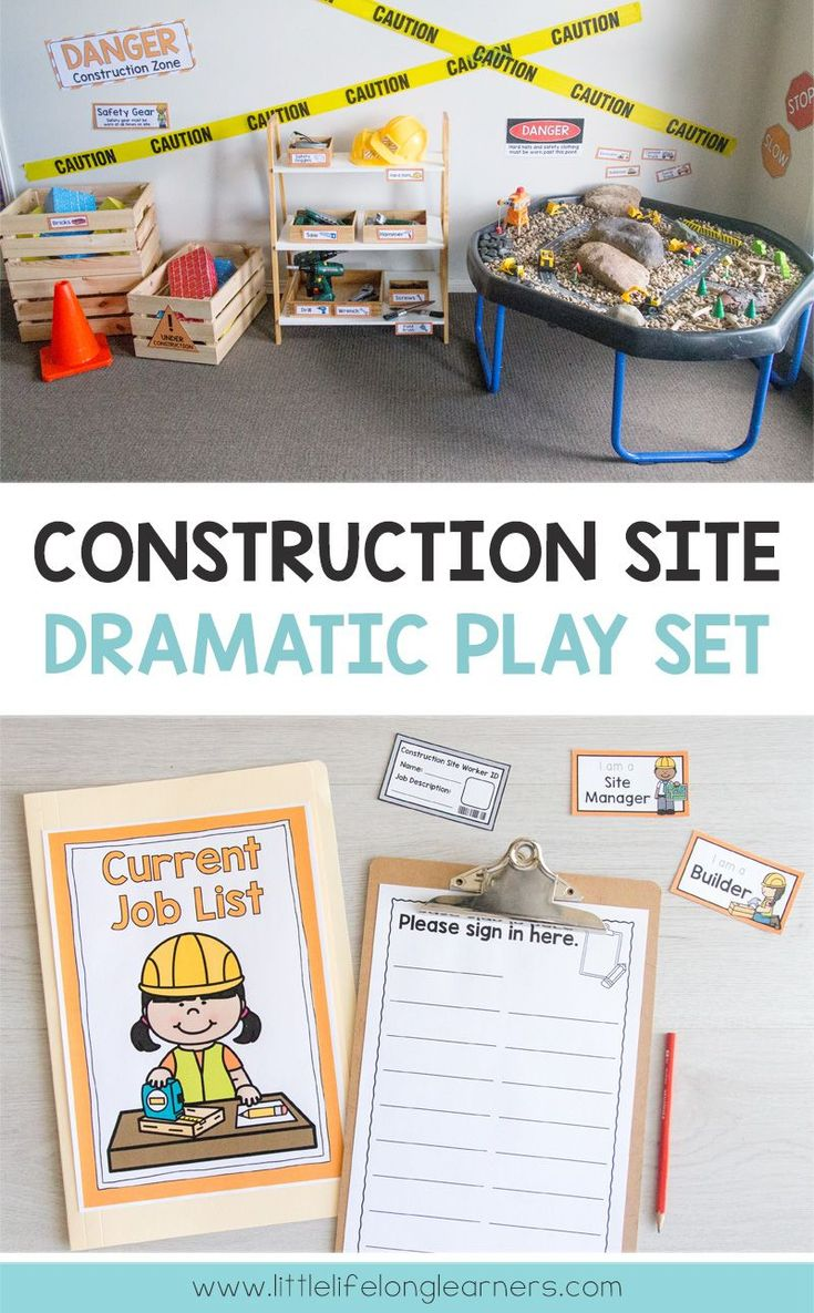Set Up A Construction Site In Your Dramatic Play And Imaginative Play Space Construction Sit Dramatic Play Preschool Construction Dramatic Play Dramatic Play