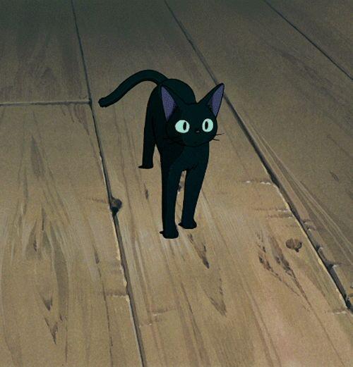 Awwnnn le chat dans kiki la petite sorcière ♥