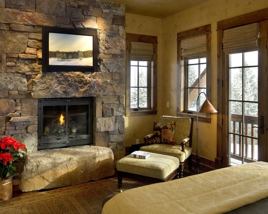 Eclectic living room, Brick fireplaces and Design on Pinterest