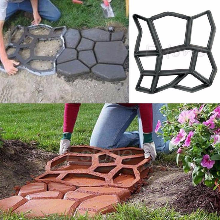 Molde para realizar adoquinado decorativo de hormig n - Losas de hormigon para jardines ...