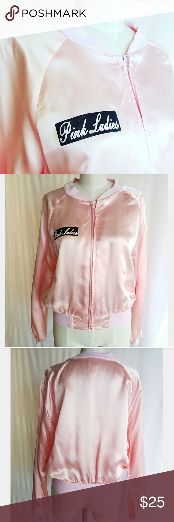 Vintage Pink Ladies (Grease) Bomber Jacket So AWESOME!!! 100% Acetate Made in USA  Excellent condition Vintage  Jackets & Coats Utility Jackets