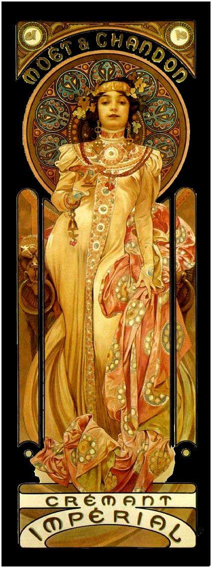 Affiche ancienne de Alphonse Mucha