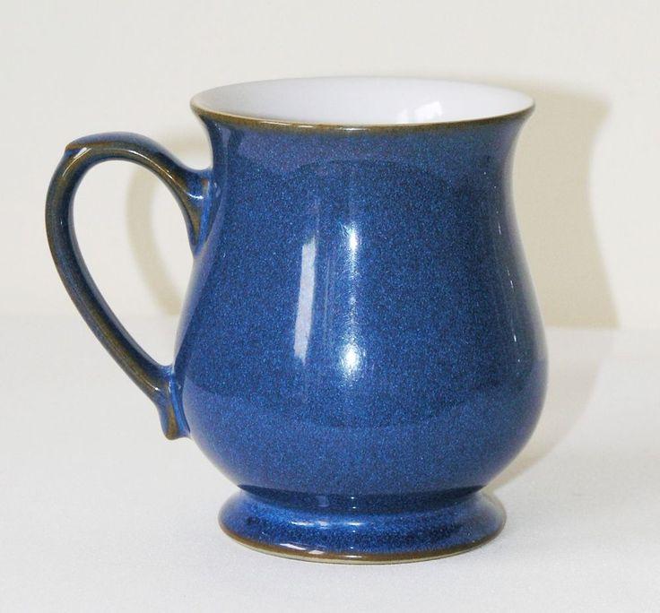 """Vtg Denby Imperial Blue Craftsman mug stoneware 4⅛"""" 10.5 cm"""