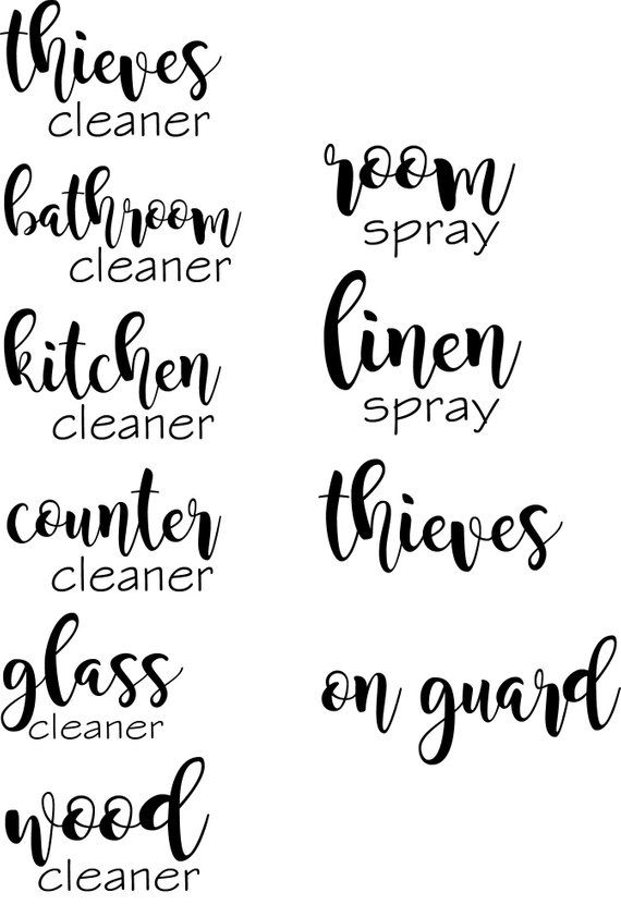 Thieves Cleaner Label Household Cleaner Label 16 Oz