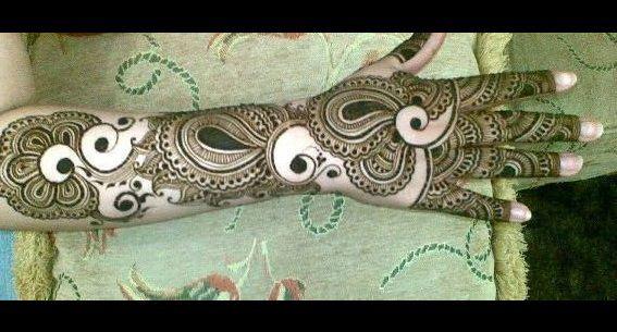 Beautiful Peacock Mehndi Designs for back hand