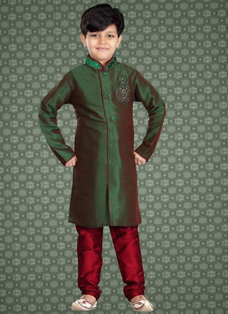 Bollywood Readymade Sherwani Indostyle Wedding Kids Dress Indian Ethnic Designer