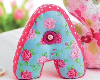 Stuffed Fabric Letters. Might be suitable if either of the children take up sewing.