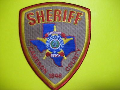 TEXAS CAMERON COUNTY SHERIFF PATCH SHOULDER SIZE