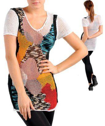 G2 Fashion Square Multi Color Sweater Tunic(OW-SWT,WHT-S/M) G2 Fashion Square. $11.88