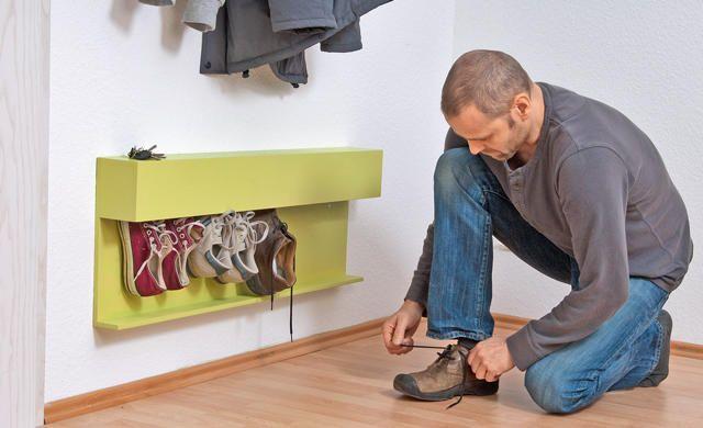 Оригинальная полочка для обуви своими руками