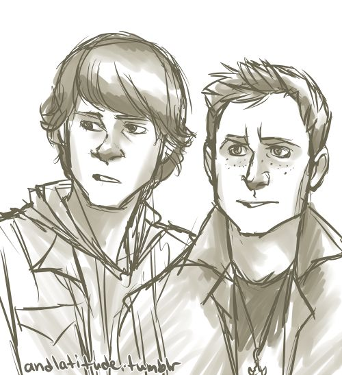 Oh yeah, I remember these guys. Sam and Dean Winchester from andlatitude.tumbler