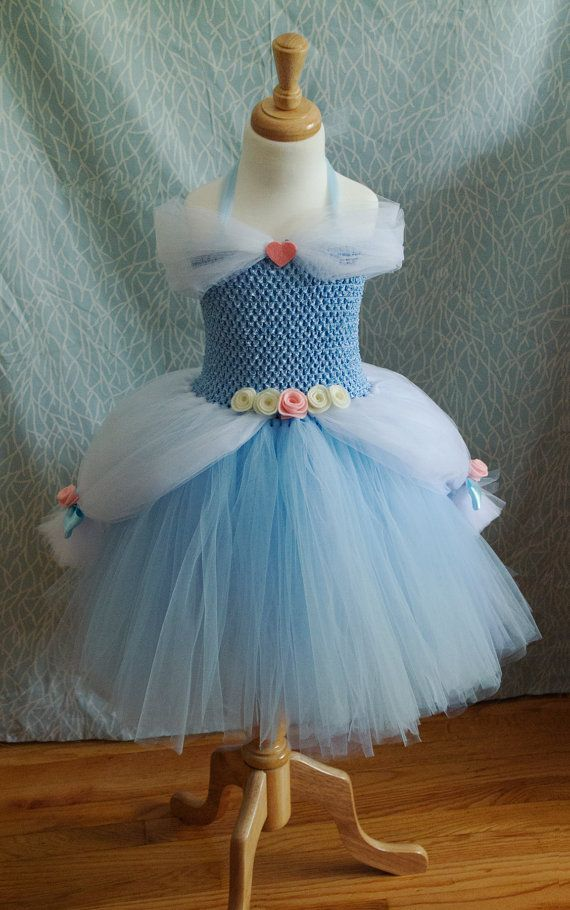 Fall Sale! Cinderella Costume tutu dress, Princess Ball gown, for baby and toddler girls