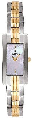 Bulova Women's Two Tone Bracelet MOP Watch 98L001