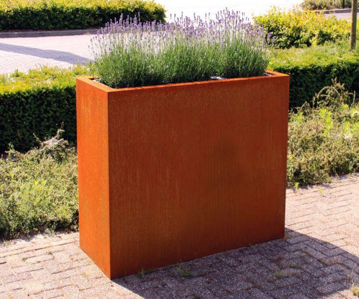 24 best planters corten steel images on pinterest bloembakken plantenpotten en graven. Black Bedroom Furniture Sets. Home Design Ideas