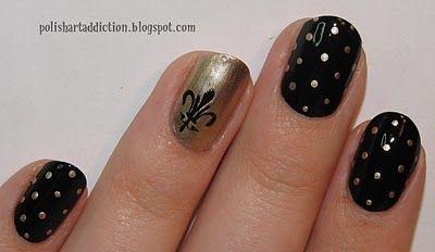 New Orleans Saints Nails