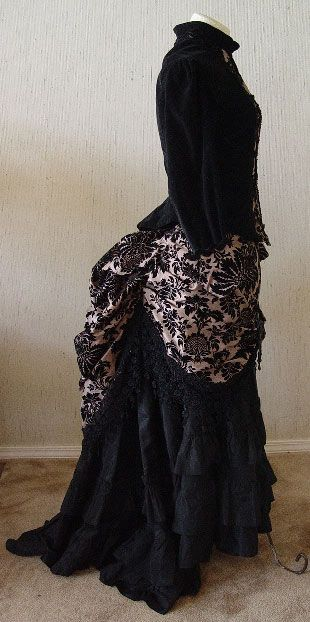 WEAR TO READY Hall Christine by ONLY Overskirt and Bodice Dress Day Victorian Preowned