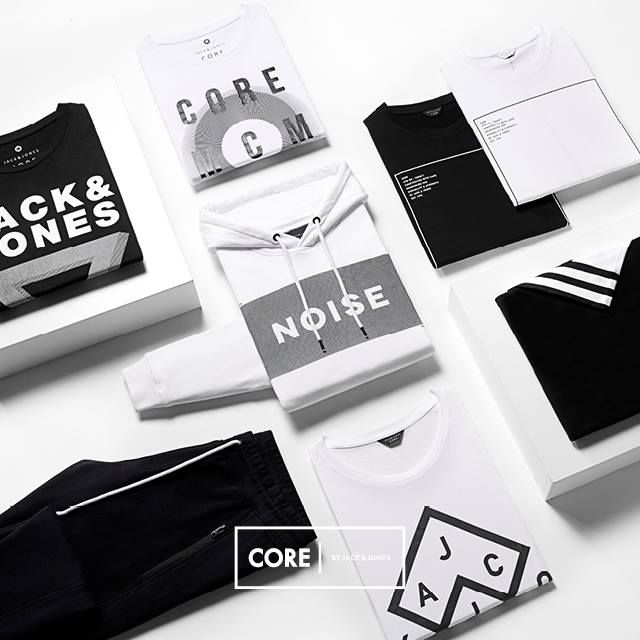 Monochrome sweats and T-shirts - fresh picks from CORE by JACK & JONES