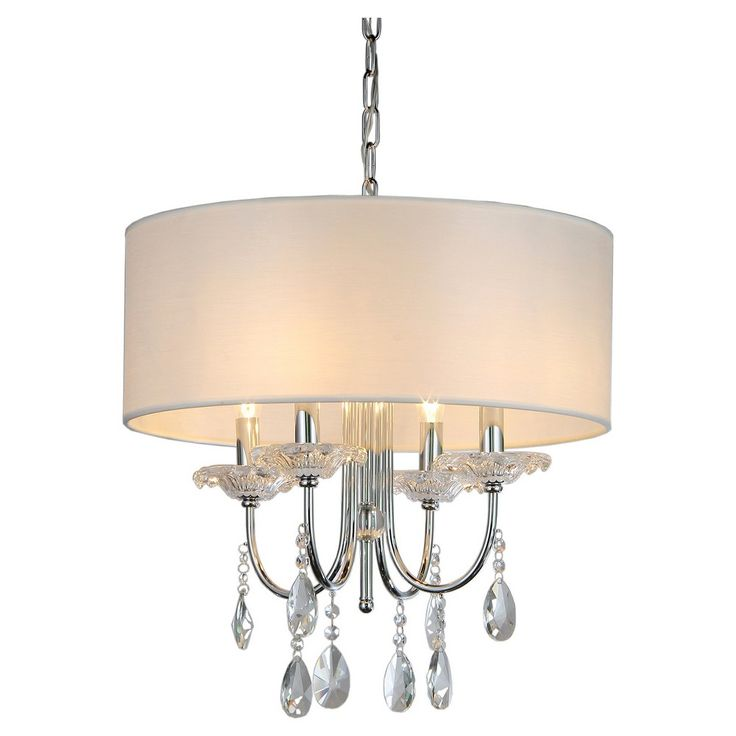 Warehouse Of Tiffany Chandelier Ceiling Lights -Silver, Silver