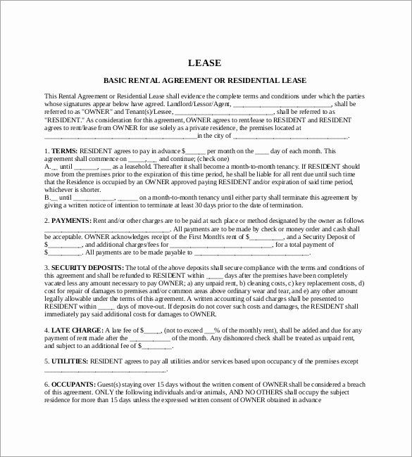 Ms Word Rental Agreement Template Capriartfilmfestival Rental Agreement Templates Rental Lease Agreement