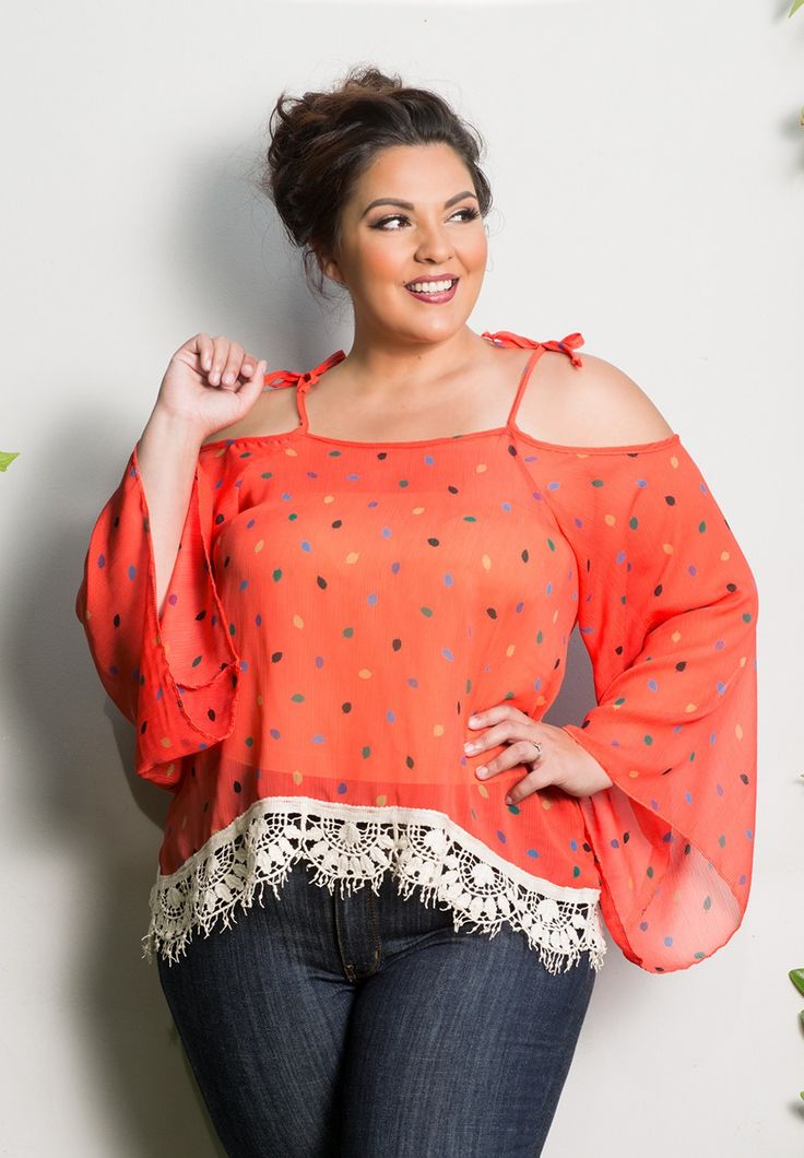 Autumn Chiffon Top - Coral Leaves