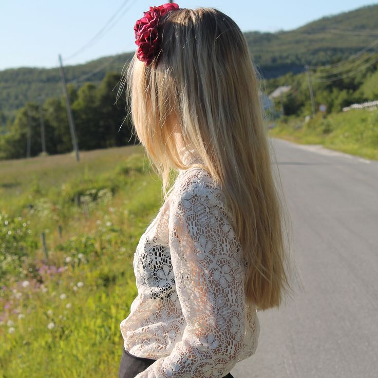 Flower crown and vintage lace