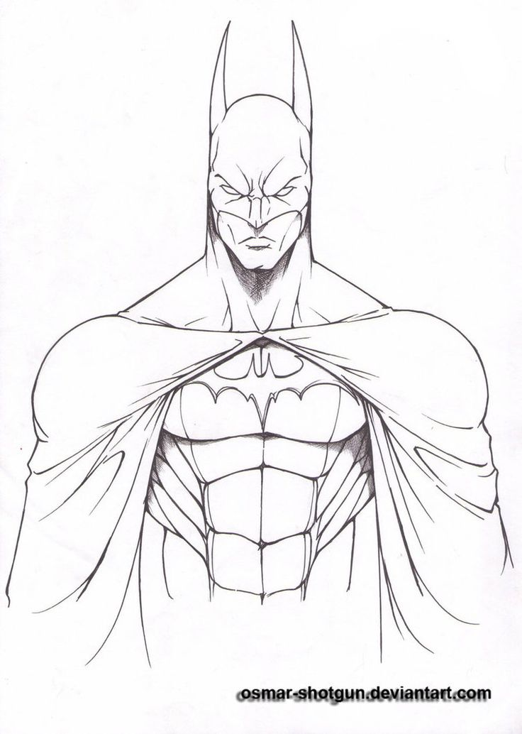 Learning how to draw the batman symbol is extremely easy ...