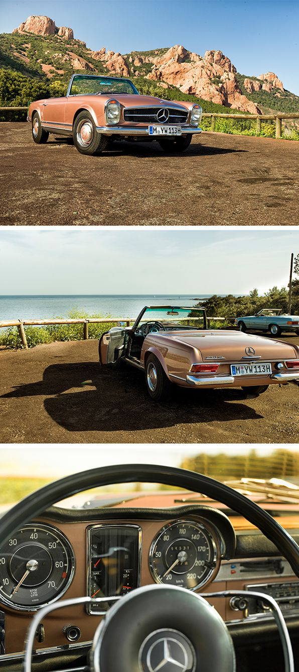 Classic Car Travel – Discover the roads of your dreams behind the wheel of our classic Mercedes-Benz SL!
