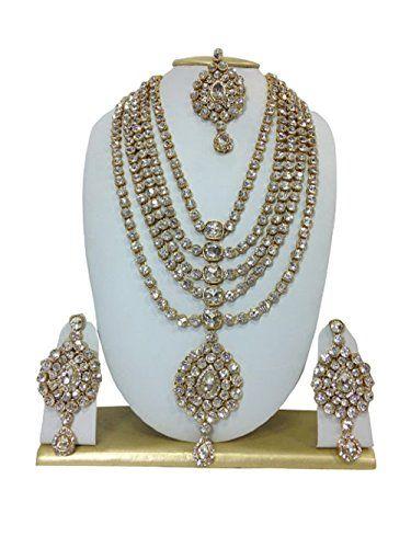 Indian Bollywood Gold Plated Stone Kundan Designer Nackla... https://www.amazon.com/dp/B01MG4DBHN/ref=cm_sw_r_pi_dp_x_JPOSybQR65WE1