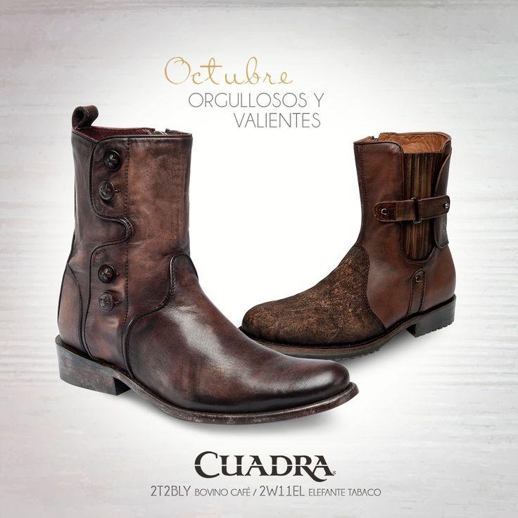#BienvenidoOctubre Una mezcla de texturas para los nacidos en este mes. ¿Quién cumple años en octubre? #Botas #Boots #CUADRA #CuadraLifestyle