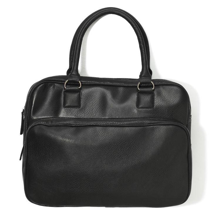tb-p2, skórzana czarna torba z rączką